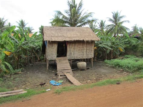what is an in house typical house in cambodia photo