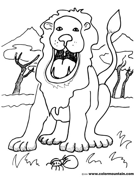 roaring lion coloring page realistic lion roaring coloring pages coloring pages