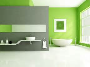 Green Grey Paint lime green accents wall paint for modern bathroom idea