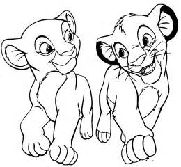 simba coloring pages simba and nala king coloring pages