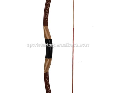 Mongolian Fiber Handmade Siyah Chinesse purely handmade archery wood recurve bow brown color 45lbs