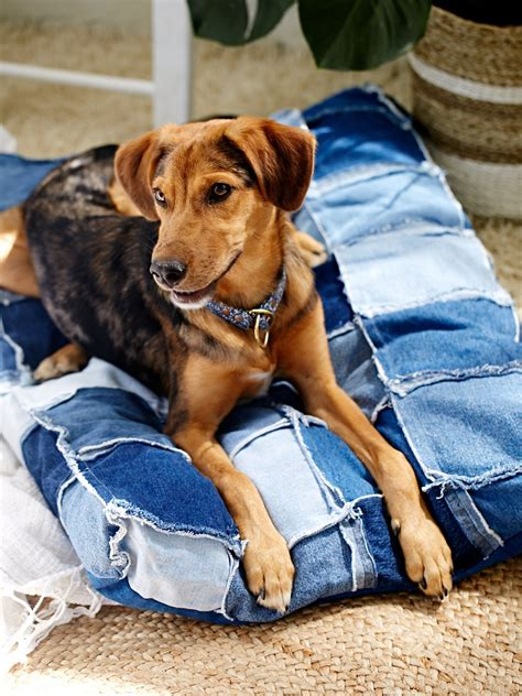 denim dog bed all paws natural patched denim dog bed at free people