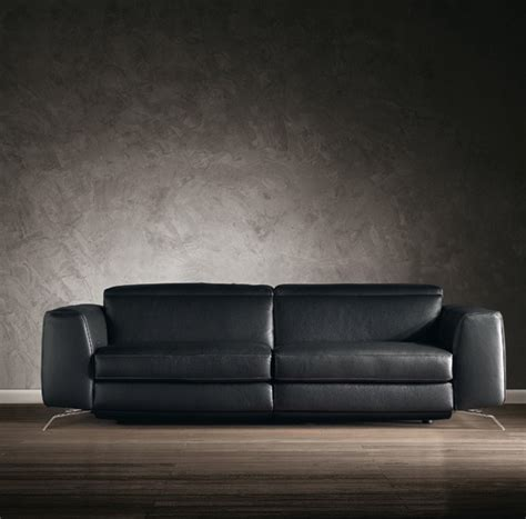 Natuzzi Black Leather Sofa B 795 Leather Sofa Natuzzi Editions Neo Furniture