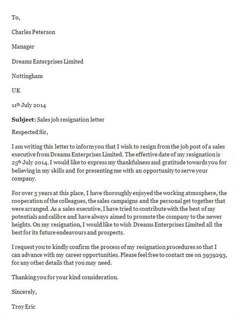 job resignation letter templates ms word