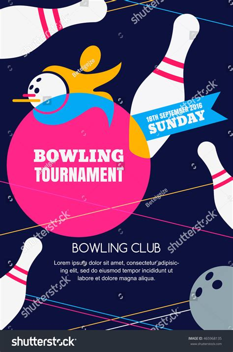 design banner bowling vector bowling tournament banner poster flyer stock vector