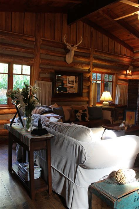 adirondack style lodge traditional living room by