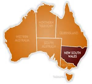 map of new south wales australia route australia una volta de pedal