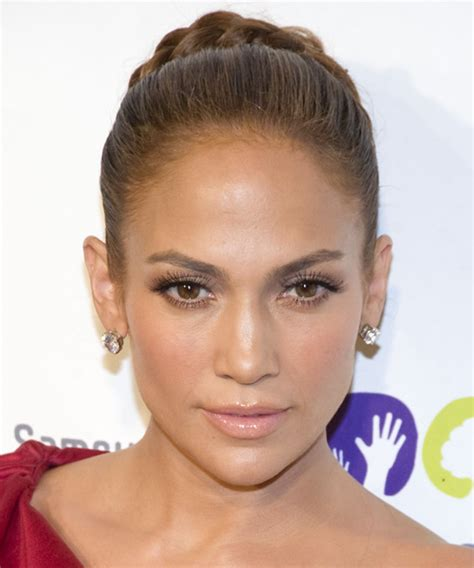 Jennifer Lopez Updo Long Curly Formal Braided Updo