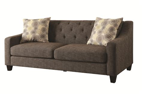 pillow back sofa cushions avondale transitional sofa with tufted attached back and
