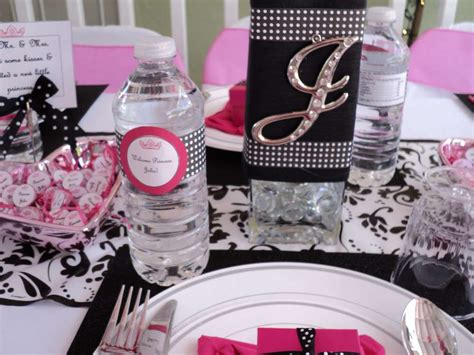 Pink And Black Baby Shower Themes by Pink Black And White Baby Shower Ideas Photo