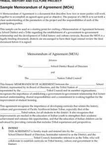 Template Of Memorandum Of Agreement memorandum of agreement template for excel pdf and word