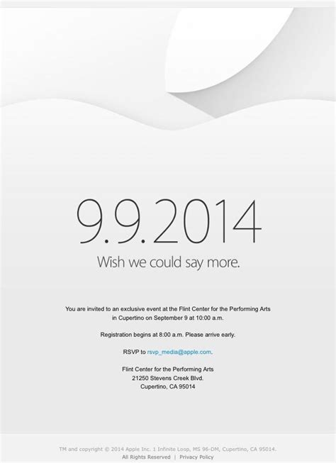 Apple announces special event for September 9th: 'Wish we