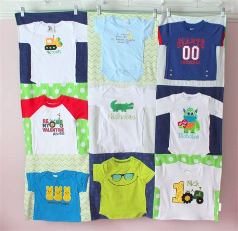 Quilt Patterns Using Baby Clothes by Baby T Shirt Blanket Custom Baby Clothes Quilt Memory
