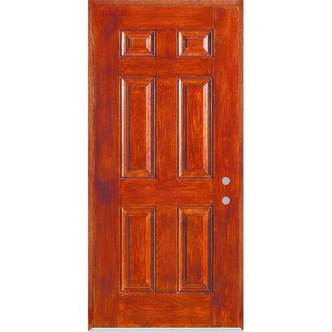 stanley front doors stanley doors 32 in x 80 in infinity 6 panel stained