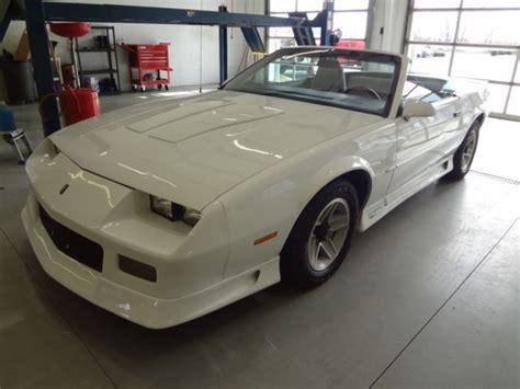 camaro white book 1991 camaro rs convertible white w blk top options