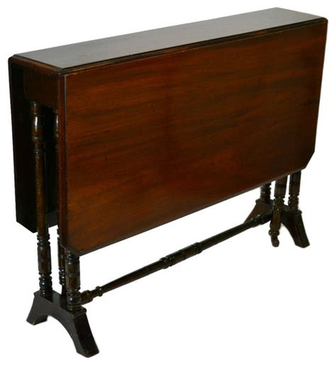 Drop Side Table Consigned Rsvd Mahogany Drop Leaf Side Table Antique Circa 1 Traditional