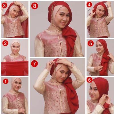 tutorial hijab paris buat lebaran tutorial hijab untuk silaturahmi idul fitri 1