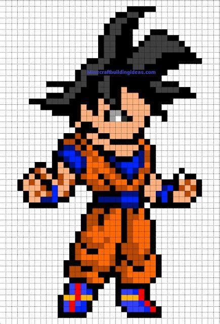 minecraft pixel art templates goku