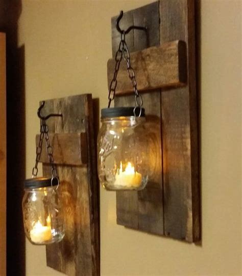 kerzenhalter holz wand rustic candle holders home decor rustic candles sconces
