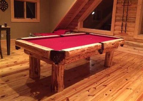Log Pool Tables Rustic Billiards Log Pool Table