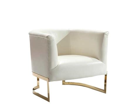 white modern accent chair view in gallery modern accent