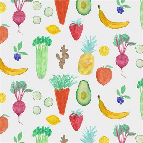 vegetables pattern wallpaper watercolor fruit vegetable green juice pattern by abby