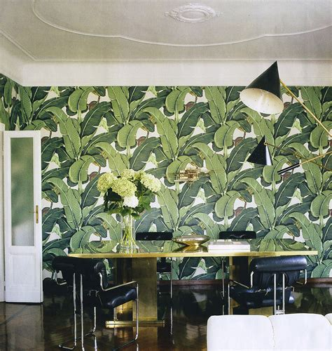 banana leaf wallpaper beverly hills hotel the official martinique beverly hills hotel wallpaper