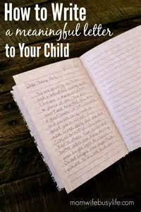 how to write a letter to your child busy
