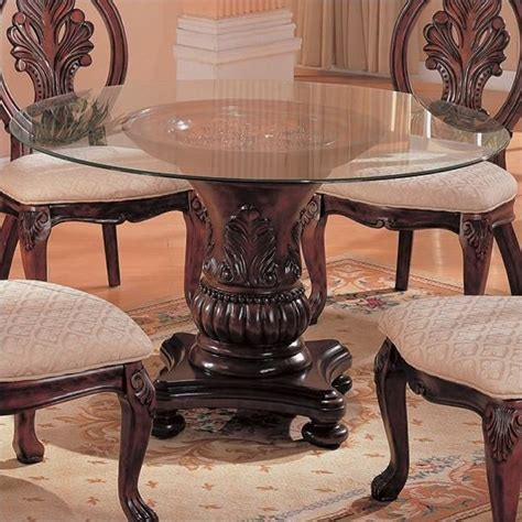 traditional dining table chairs coaster traditional dining table with glass