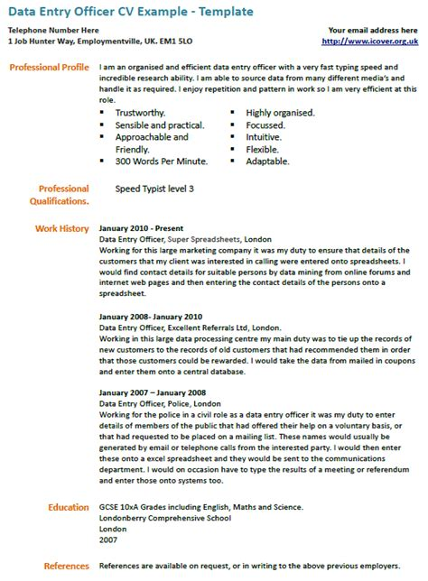 Sle Resume Format For Data Entry Operator 28 sle cover letter for data entry clerk survivingmst org