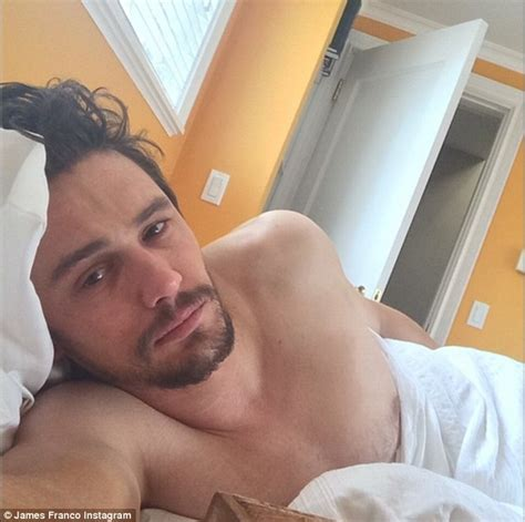 sexy bed selfies james franco shares smouldering shirtless pics from bed