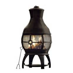 Cast Aluminum Chiminea Outdoor Fireplace - astonishing metal chiminea fire pit garden landscape