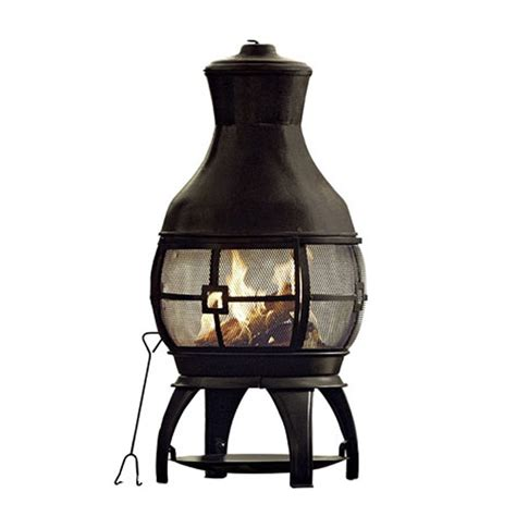Garden Chiminea astonishing metal chiminea pit garden landscape