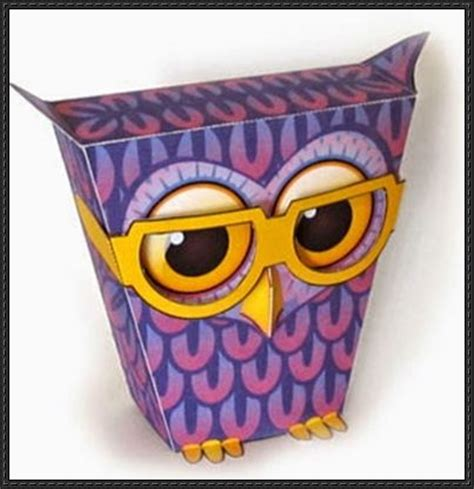 Owl Papercraftsquare Free Papercraft - papercraftsquare new paper craft bespectacled owl