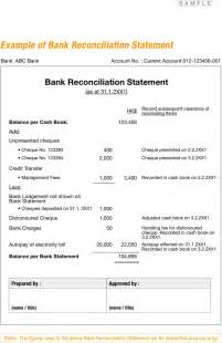 Book To Tax Reconciliation Template by Free Exle Of Bank Reconciliation Statement Formxls