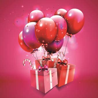 Balon Happy Birthday Car happy birthday balloons of greeting card vector free