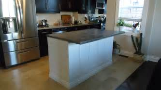 Kitchen Island Countertop Overhang by Building A Kitchen Island Small Space Style