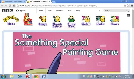 painting something special http www co uk cbeebies something special