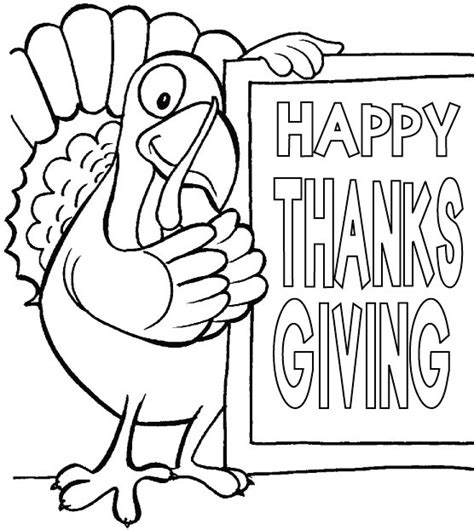 Happy Thanksgiving Coloring Pages For Kids Happy Thanksgiving Printable Coloring Pages