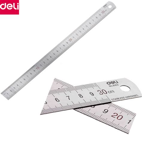 Diskon Stainless Steel Ruler 30 Cm C Mart Tools Cd0019 300 deli metal ruler 30cm 50cm stainless steel ruler measuring scale ruler accessories