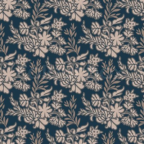 pattern background fabric vintage floral antique background fashion seamless