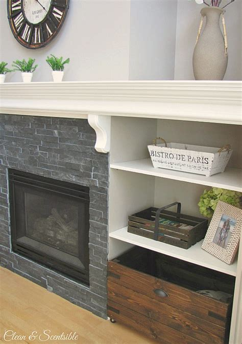 How To Update A Fireplace by Updated Fireplace And Mantel Clean And Scentsible