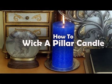 how to make a candle wick candle making lessons how to wick a pillar mold to make a