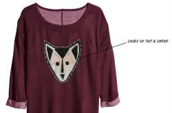 Colle A Tissus 4051 by Customisation Sweat Loup Patchwork Id 233 Es Conseils Et