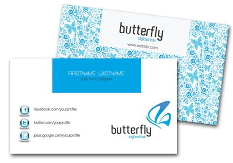 butterfly business card template 30 elegantly designed free business card templates