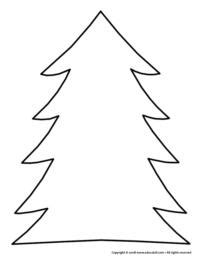 christmas tree tracing pattern christmas crafts theme and activities educatall