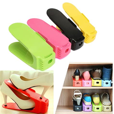shoe storage space saver space saving shoes rack shelf closet storage organizer