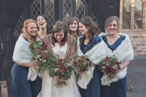 A rustic Christmas wedding, Alice and Simon at Lyde Court
