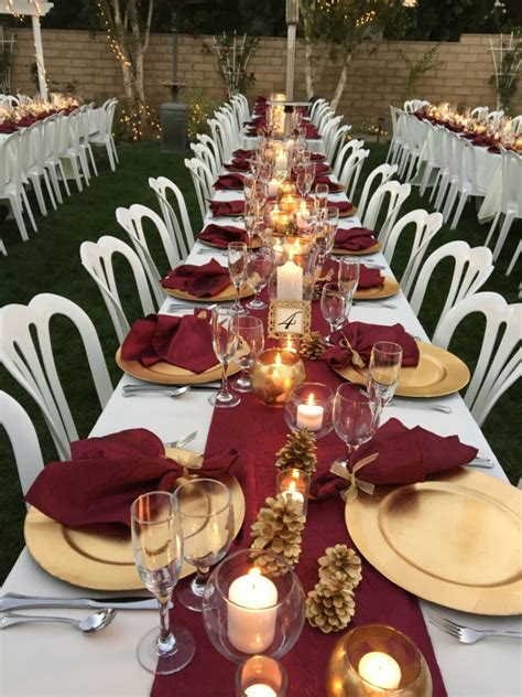 My Wedding Ideas by Fall Colors Burgundy Napkins Table Runners My Wedding