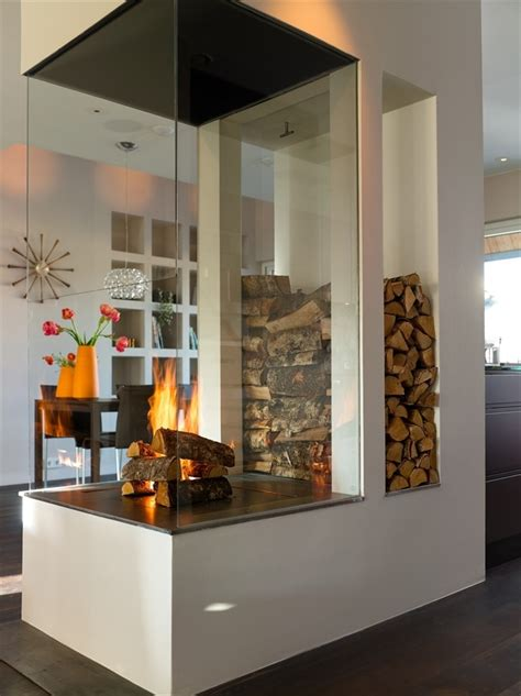 Modern Indoor Fireplace Designs by 25 Cool Firewood Storage Designs For Modern Homes